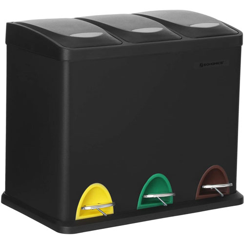 Cubo Ecologico Selectivo 15L con Tapa-Pack 3 ud PLASTICOS HELGUEFER